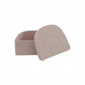 Boite à collation silicone Snack box Oyoy - rose